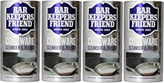 Bar Keepers Friend Cookware Cleanser & Polish Powder - 12 Oz, Pack of 4