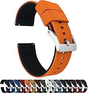 Elite - Correa de Reloj de Silicona – liberación rápida – Elegir Color – 18 mm, 20 mm y 22 mm Correas de Reloj