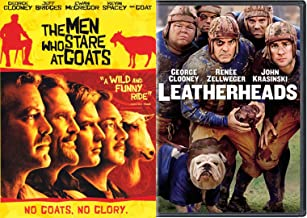 No Goats No Glory George Clooney Double Feature Leatherheads + The Men Who Stare At Goads DVD 2 Pack