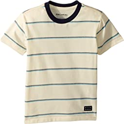Die Cut Stripe Short Sleeve Crew T-Shirt (Toddler/Little Kids)