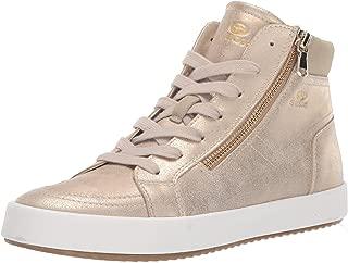 GEOX Womens D926HD.0PVAF.C6738 Blomiee 11 Fashion High Top Sneaker with Zipper Beige Size:
