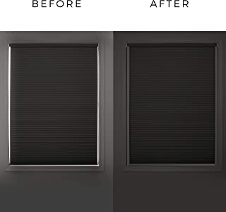 Sleepy Time Tracks-block light along the sides of blackout shades (White, 60 inch with bottom track)