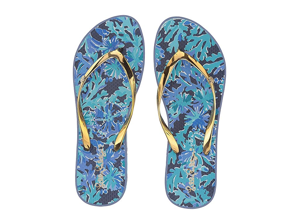 Lilly Pulitzer Pool Flip-Flop (Bright Navy in Too Deep) Women
