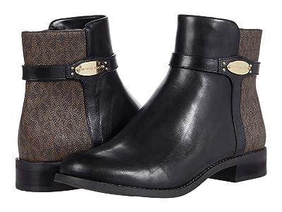 MICHAEL Michael Kors Finley Flat Bootie (Black/Brown) Women