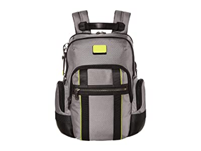 Tumi Alpha Bravo Nathan Backpack (Grey/Bright Lime) Backpack Bags