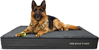The Dog�s Bed Orthopedic Dog Bed, Premium Memory Foam S-XXXL, Waterproof, Dog Pain Relief for Arthritis, Hip & Elbow Dysplasia, Post Surgery, Lameness, Senior Supportive, Calming Bed, Washable Cover