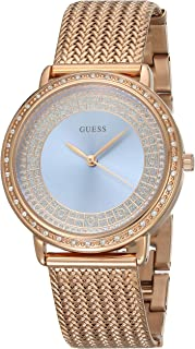 Guess Women's Blue Dial Stainless Steel Band Watch - GUE_W0836L1