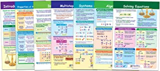 NewPath Learning 93-6505 Algebra Skills Bulletin Board Chart Set (Pack of 7)