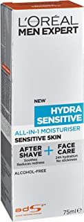 L'Oréal Paris Men Expert Hydra Sensitive Allinone Moisturizer 75ml