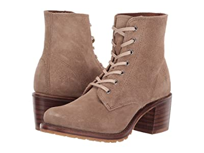 Frye Sabrina 6G Lace Up (Beige) Women