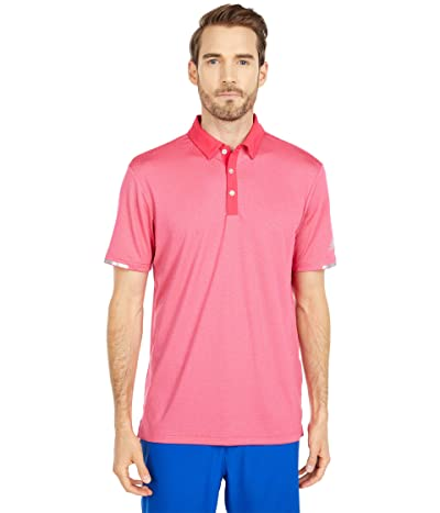 adidas Golf Heat.Rdy Base Polo Shirt (Power Pink Melange) Men