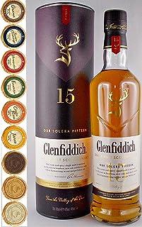 Flasche Glenfiddich Solera 15 Jahre Single Malt Whisky  9 Edel Schokoladen in 9 Sorten