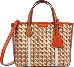 Perry Printed Canvas Small Triple-Compartment Tote