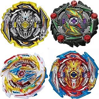 Hiash Burst Gyros Battling Top Battle Burst Set High Performance، Gaming Top Spinning Toy، Birthday Party School Gift Ideas Toys for Boys Kids Children 6، Pack 4 Pieces