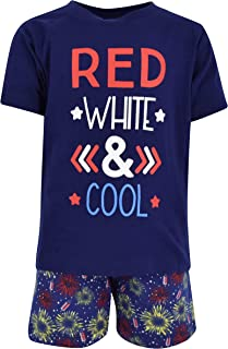 Boys Red, White & Cool 2 Piece 4th of July Outfit