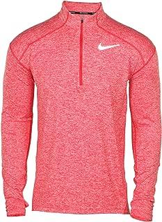 Men's Element Dri-Fit Half Zip Running Shirt, Heather Blue/Reflective Silver