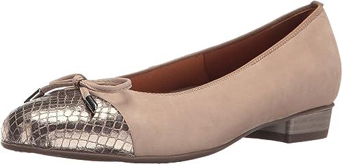 ara damen& 039;s Betty Ballet Flat, Taupe Vipera Combo, 6.5 M US