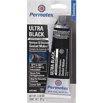 Permatex 82180 Ultra Black Maximum Oil Resistance RTV Silicone Gasket Maker, 3.35 oz. Tube