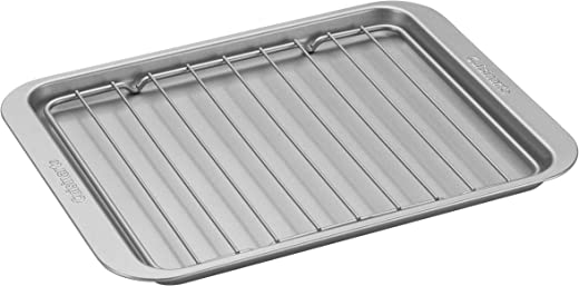 """Cuisinart AMB-TOBPRK Toaster Oven Broiling Pan w/ Rack, silver, 1.12""""(l) x 0.86""""(w) x 0.06""""(h)"""