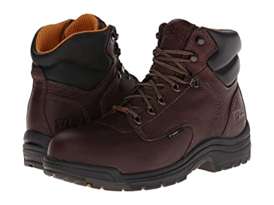 Timberland PRO TiTAN(r) Waterproof 6 Alloy Safety Toe (Dark Mocha Full-Grain Leather) Men