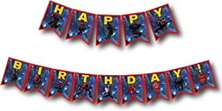 A2ZPlusmore INTO The Spider Verse Birthday Party Bunting Banner, Garland, Flag Pennants