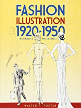 Fashion Illustration 1920-1950: Techniques and Examples (Dover Art Instruction)