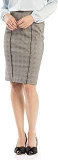 Review Women's Sia Check Skirt Black/Cream