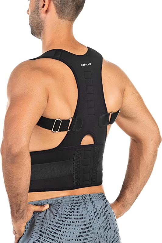 Softcell Posture Correction Back Brace Adjustable Posture Corrector For Men And Women For Posture Correction And Lumbar Support Supports Lower And Upper Back