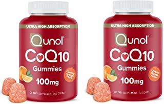 Qunol Coq10 Gummies, 60ct Twin Pack, 2 Count