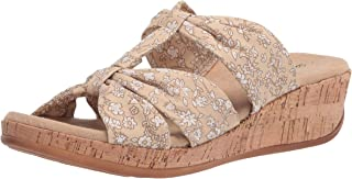 Easy Street Women's Wedge Sandal, Natural Mini Floral, 5