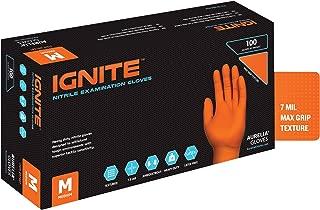 Aurelia Ignite, Orange Heavy-Duty Nitrile Gloves, 7.0 Mil Thick, Size: X-Large (90 Count Box)