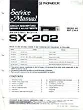 Pioneer SX-202 SX-202L AM FM STereo Receiver, Service Manual, Parts List, Schematic Wiring Diagram