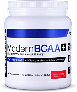 Modern BCAA+ Essential Amino Acid (EAA) Branched Chain Amino Acid (BCAA) Muscle Recovery Supplement Powder Drink Mix, Frui...