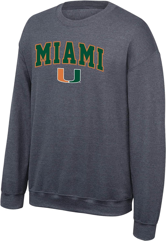 NCAA Mens NCAA Crewneck Sweatshirt Dark Heather Arch