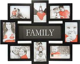 "kieragrace KG Contemporary Family Collage Frame, Holds 8, 4""x6"" photos, Black"