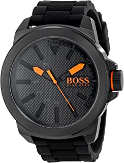 Orange Men's 1513004 New York Black Stainless Steel Watch