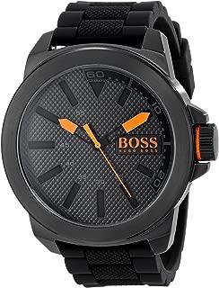 HUGO BOSS Orange Men's 1513004 New York Black Stainless Steel Watch