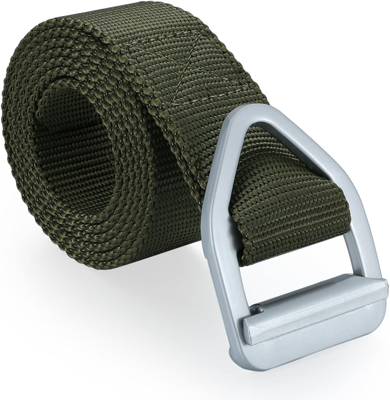 Cinturón táctico militar para hombre de JewelryWe, de lona transpirable, nailon, ancho, largo ajustable, 130 cm de largo, 3 colores diferentes