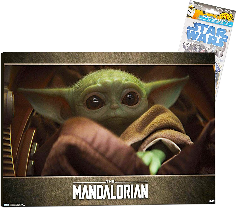 shop Star Wars Mandalorian Room Decoration - Poster San Jose Mall Baby Yoda Deluxe