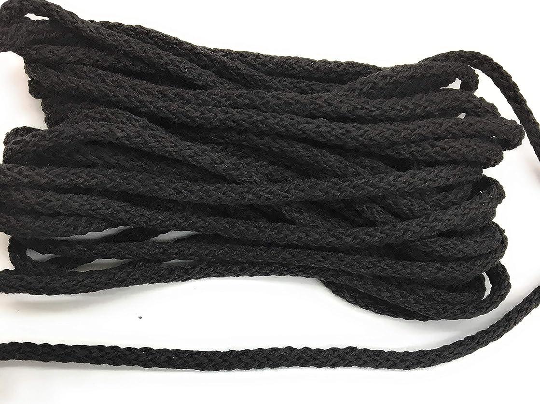Matte Black Cord Weave Trims 3/16