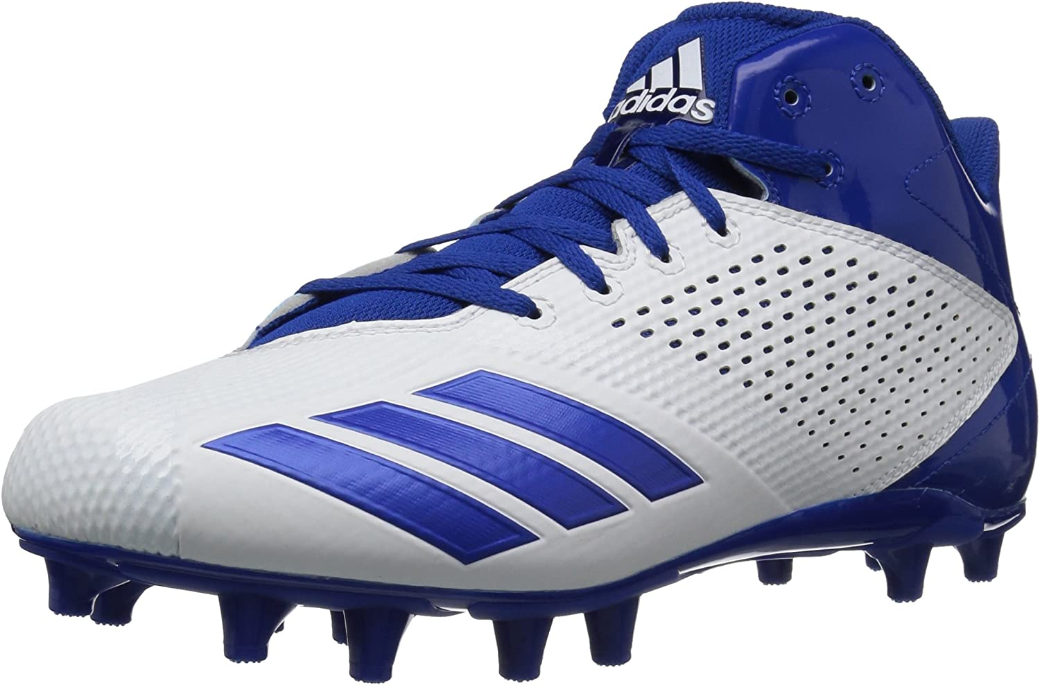 Adidas Men's Freak X Carbon Mid Football shoes, White Croyal, 18 M US