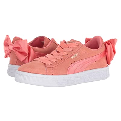 Puma Kids Suede Bow AC PS (Little Kid/Big Kid) (Shell Pink) Girls Shoes