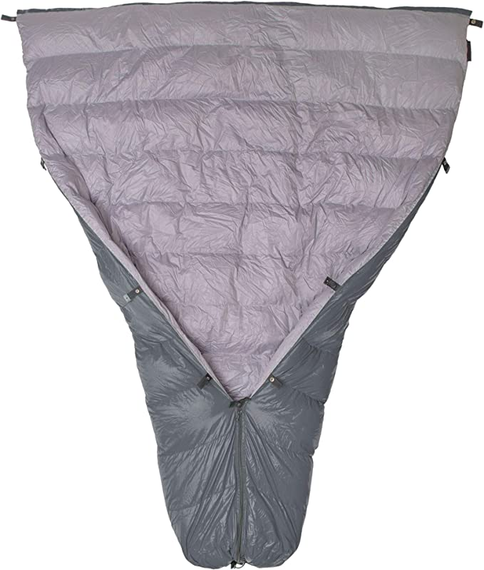 Paria Outdoor Products Thermodown 15 Degree Down Sleeping Quilt - Most Adjustable Quilt