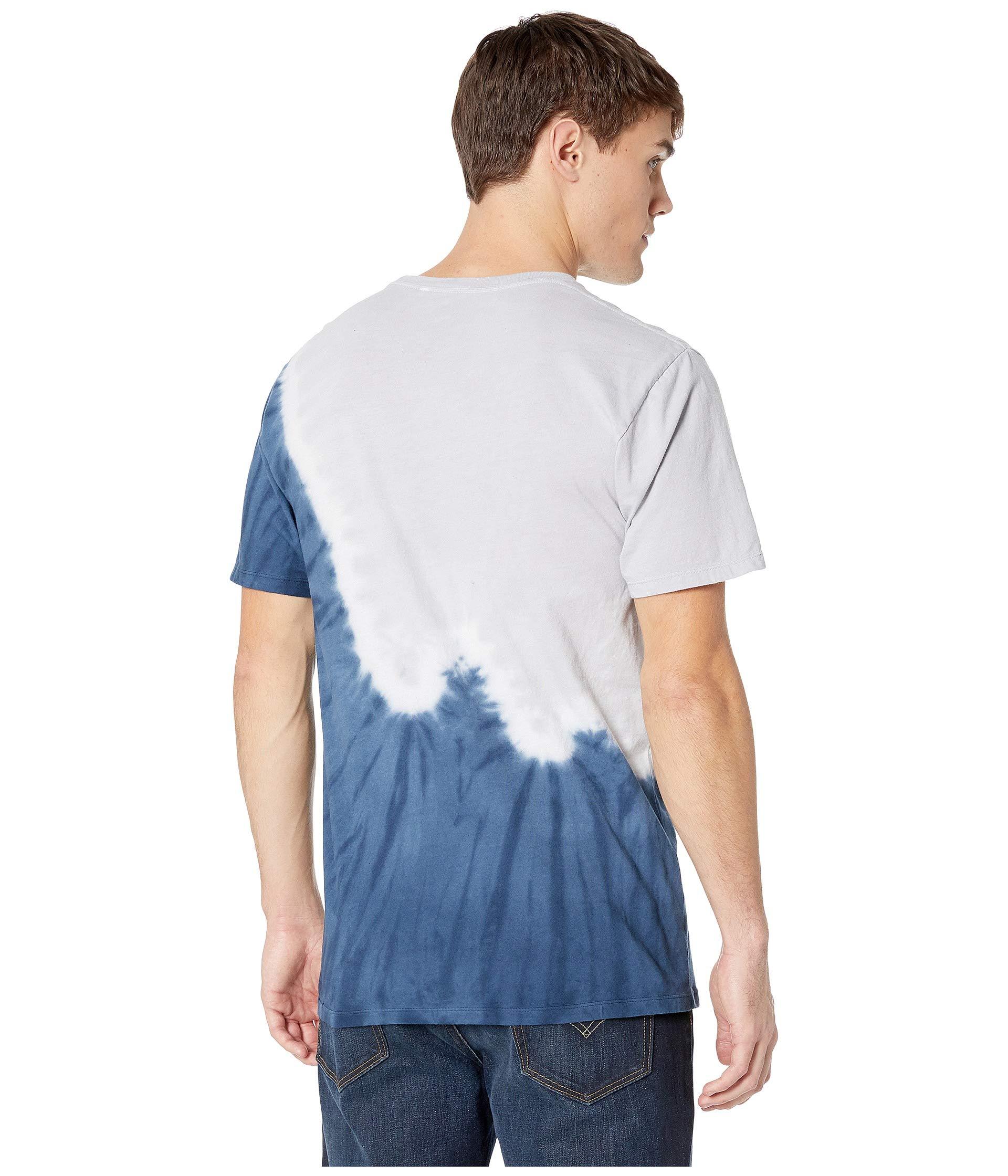 Short Tie Huf Mood dye Indigo Sleeve Peak Tee qUxaxwHn6S
