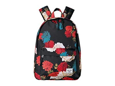 Herschel Supply Co. Classic Mid-Volume (Vintage Floral Black) Backpack Bags
