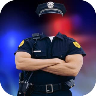 Police Suit Photo Frame Maker