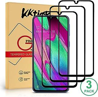 KKTICK Protector Pantalla Samsung Galaxy A40, Cristal Templado Samsung Galaxy A40 [Alta Definicion] [9H Dureza] [Sin Burbujas] [Anti-Huella Digital] Vidrio Templado- 3 Pack
