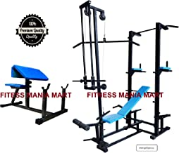 FITNESS MANIA ABS Tower with Multipurpose 20 in 1 Bench (Rectangle Pipe 4x2 INCH) (Black)