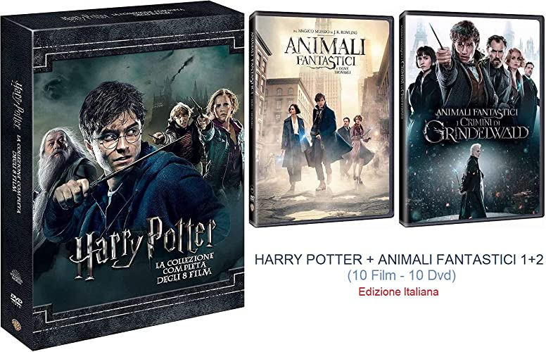 Dvd harry potter collection (standard edition) (8 dvd) + animali fantastici 1 & 2 (2 dvd) B085WT2WG3