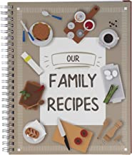 Pipilo Press Our Family Recipes Journal, Blank Recipe Book (6.5 x 8.2 in.)